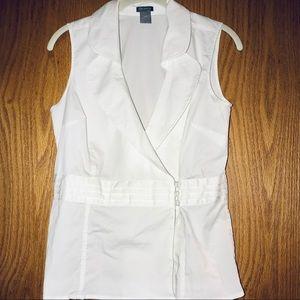 Ann Taylor sleeveless white top